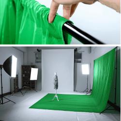 Зеленый фон хромакей 2 x 1.5 Анти блик