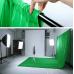 Зеленый фон хромакей 3 x 1.5 Анти блик